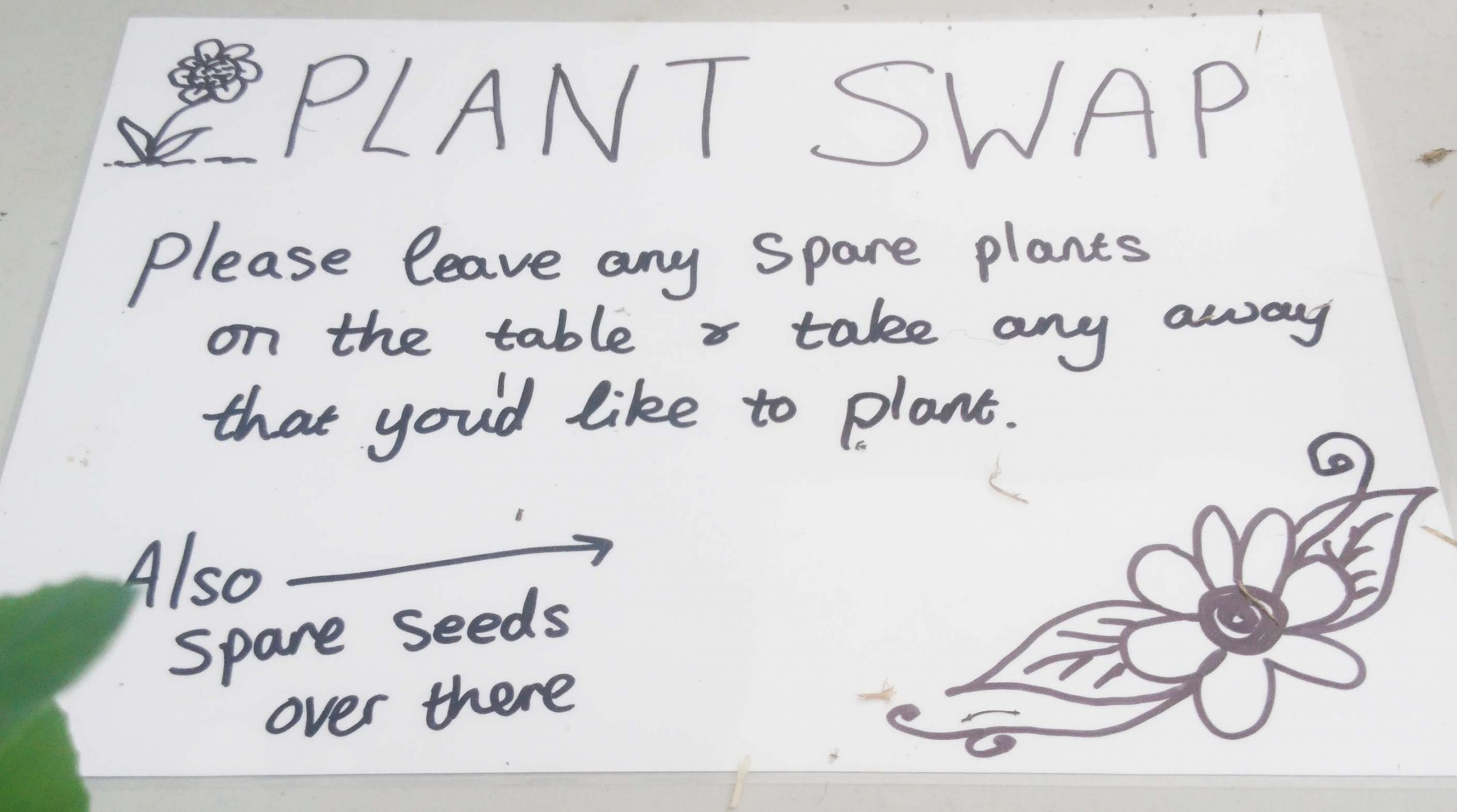 Seed Swap Sign -  Knoydart Community Garden